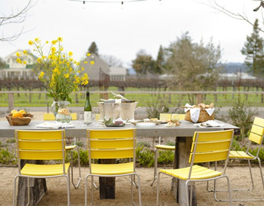 rdeco kalokairi yellow chairs outdoors