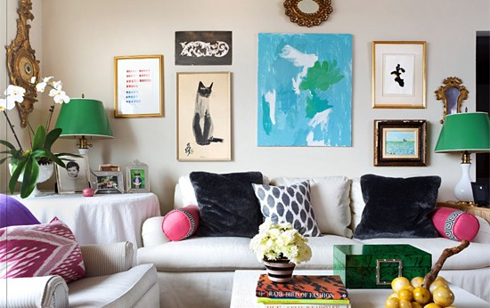 chic colorful living room high gloss mag